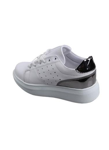 Lambirlent Lambırlent Bayan Yüksek Taban Beyaz Günlük Spor Ayakkabı Beyaz
